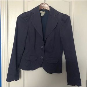 Anthropologie Lightweight Navy Blazer